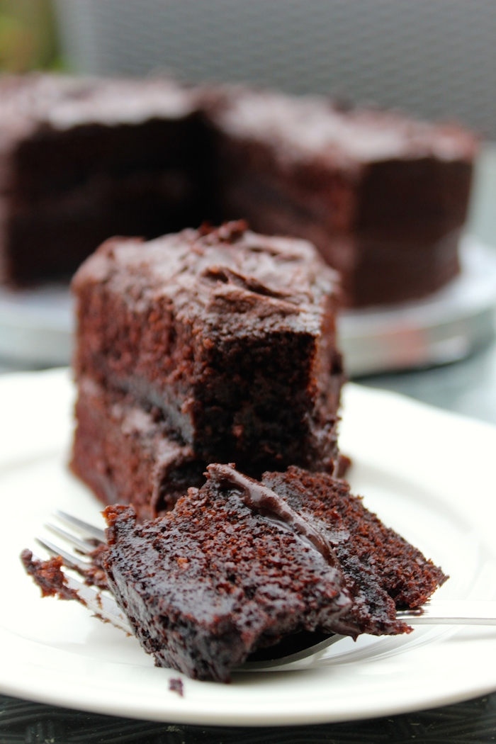 Flourless Chocolate Cake Made With Coffee