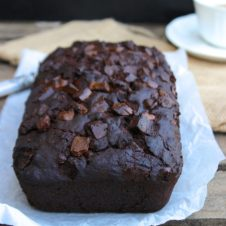 moist chocolate banana bread