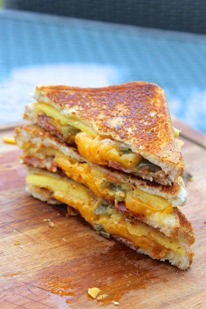 peach grilled cheese sandwich