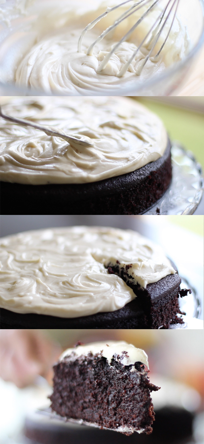 Guinness Chocolate Cake with Brown Butter Cream Cheese Icing - Hot ...