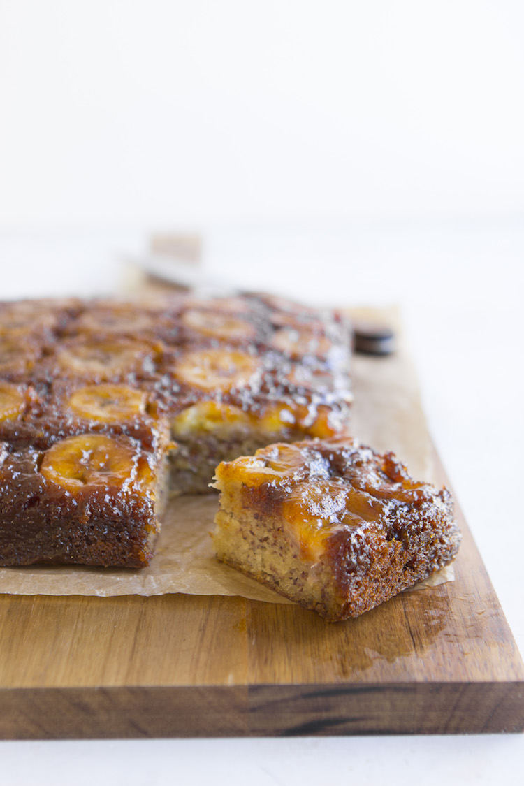 This impressive, addictive upside-down banana cake will have you go bananas.