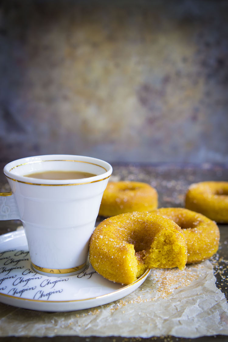 These baked pumpkin cake doughnuts are soft, fluffy and packed with warm flavours.