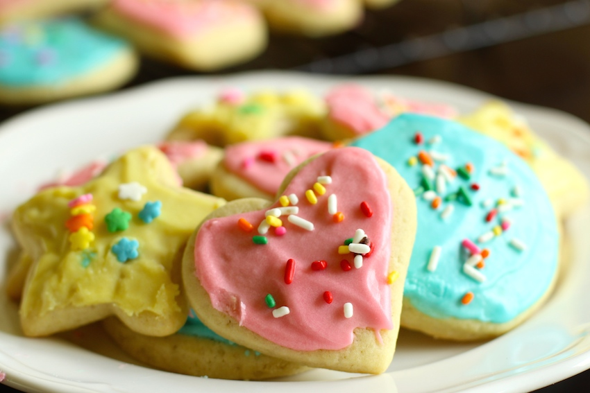 Soft, buttery sugar cookies with a vanilla icing.