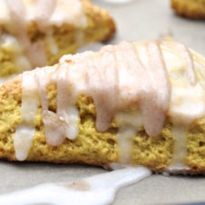 These soft, flaky pumpkin scones are the perfect gateway to fall.