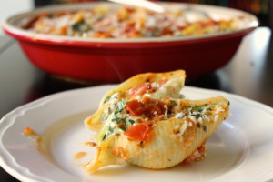 ricotta and spinach shells