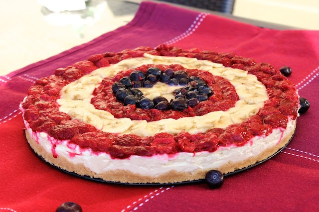 no-bake captain america cheesecake