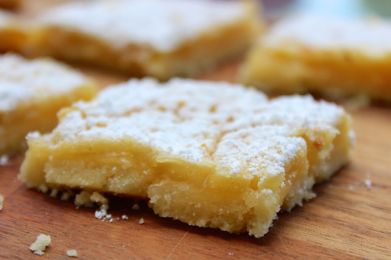 zesty lemon bars