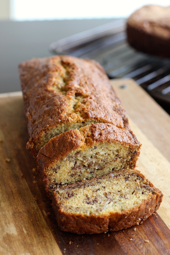 My friend Lily's banana bread- very moist, buttery and full of banana flavor!