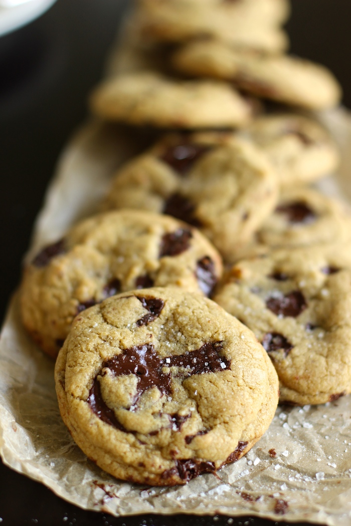 Ooey gooey cookies filled with puddles of melted chocolate. My favorite chocolate chip cookie.