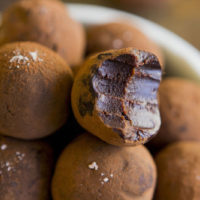 Salted caramel and whisky infused chocolate truffles. Bound to please just about anyone! #hotchocolatehits #chocolate