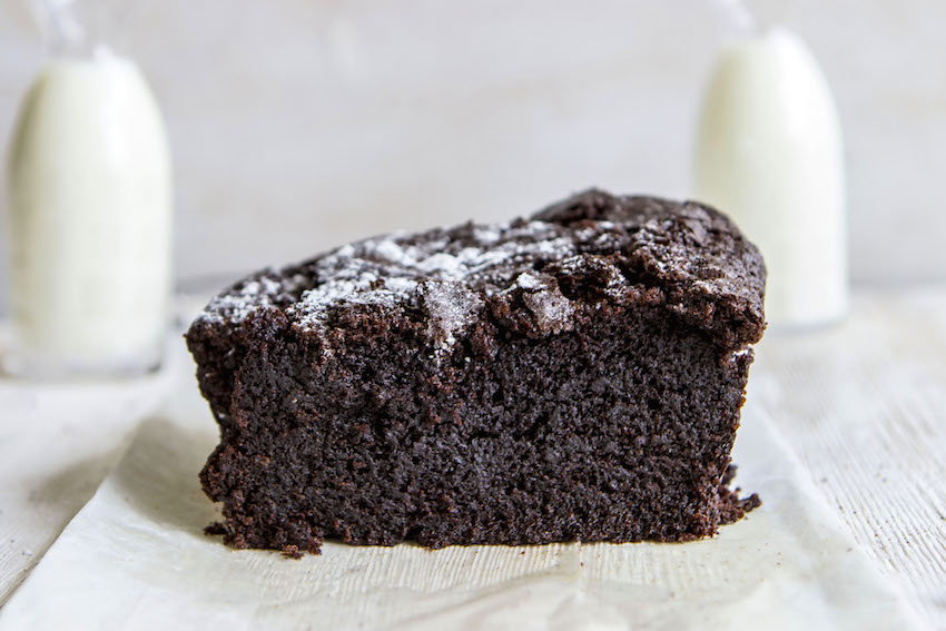 Dense chocolate loaf cake recipe- simple to make, complex in taste.