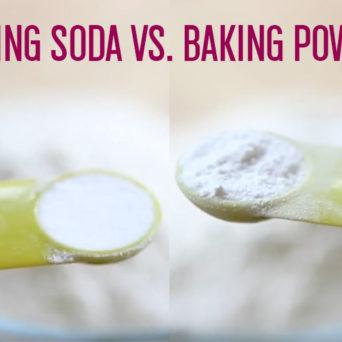 Baking Soda vs Baking Powder
