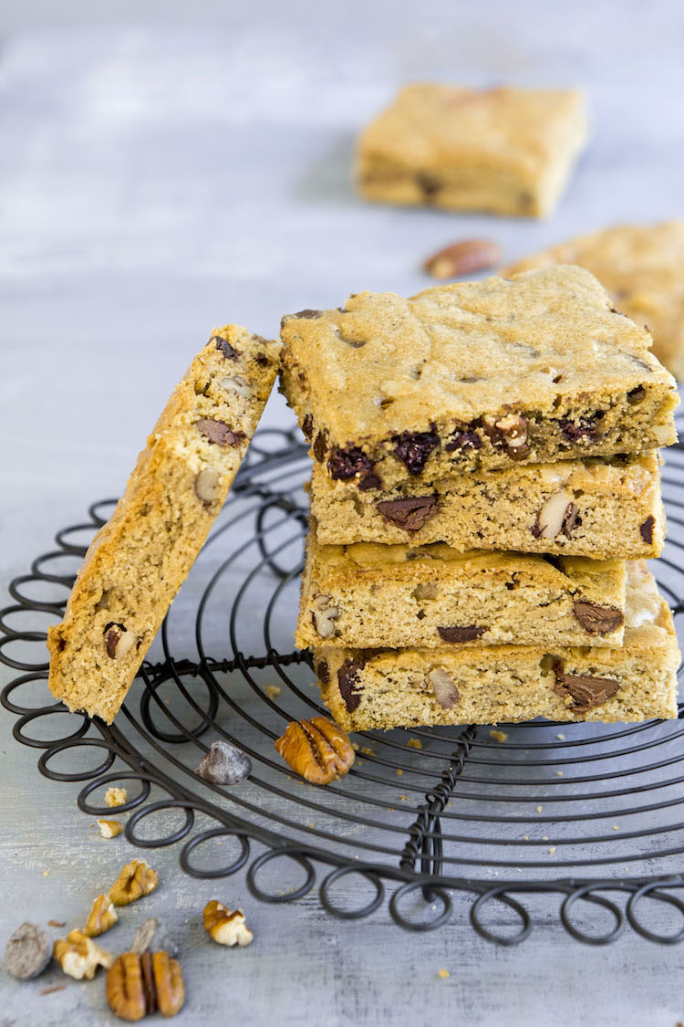 Brown Butter Bourbon Blondies: A blonde version of everyone's favorite brownie with a twist.