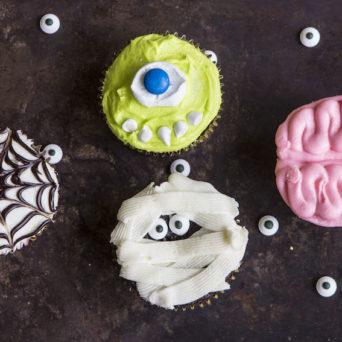 Halloween Cupcakes – Four Ways