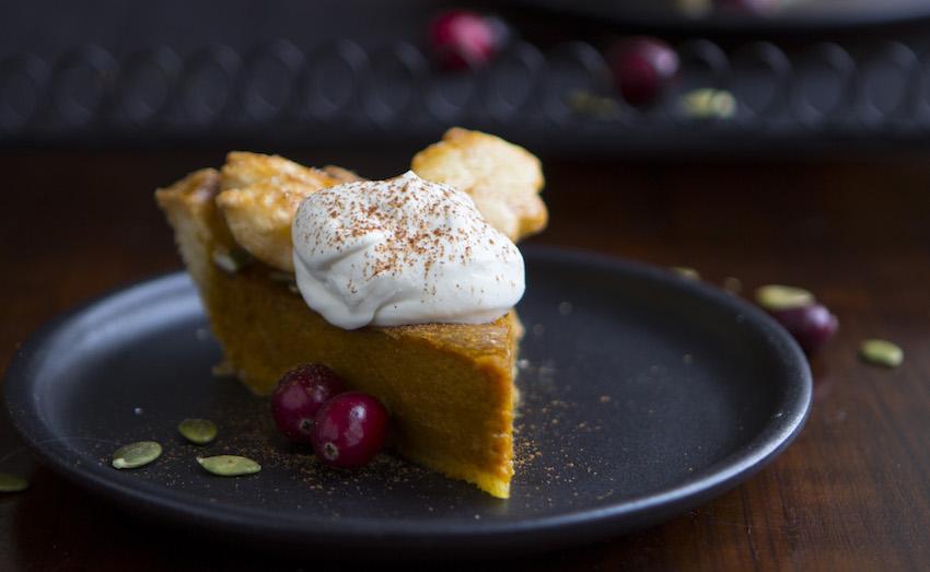 Pumpkin pie from scratch.