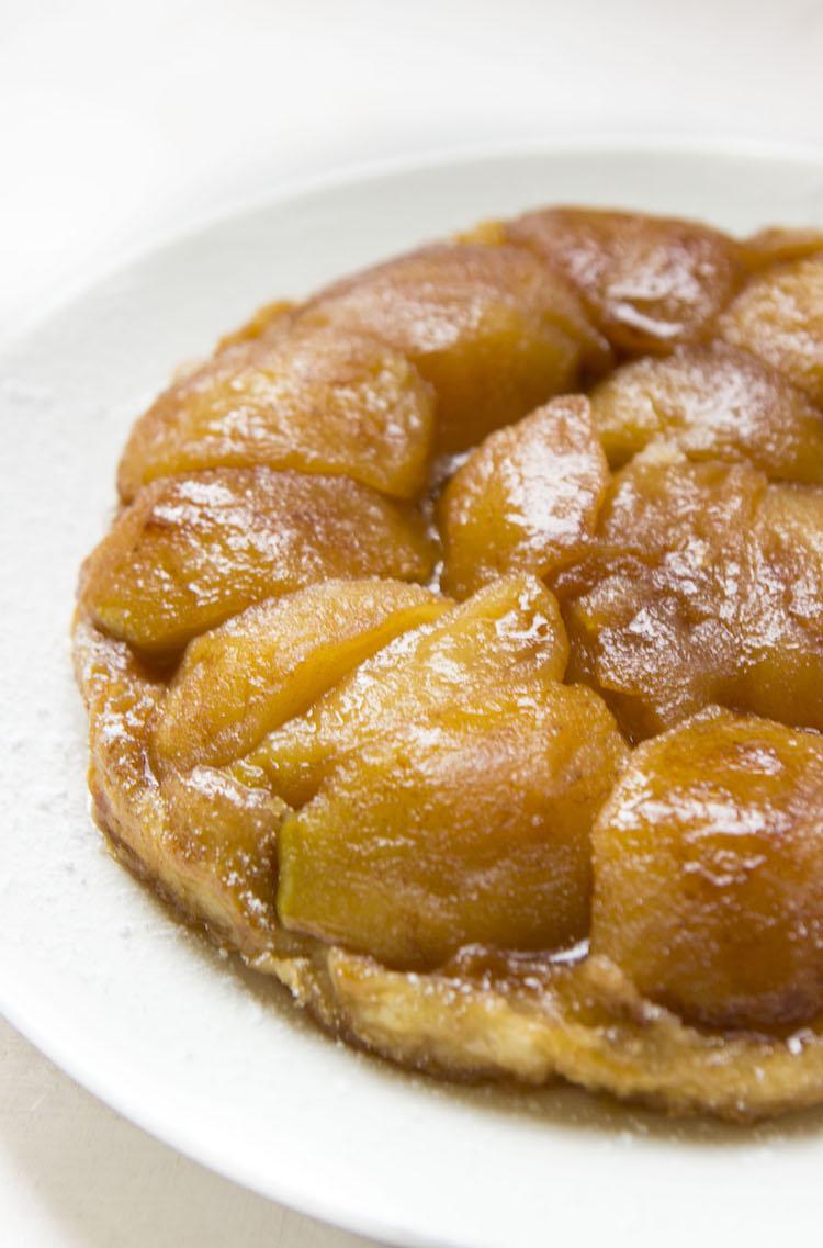 If you like apple pie, you'll love tarte tatin, an upside-down caramel apple tart.