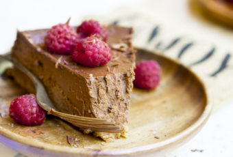 Get your daily dose of caffeine and dessert with this mocha cheesecake.