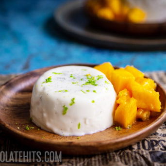 Coconut Panna Cotta with Lime and Mango (Vegan-friendly!)