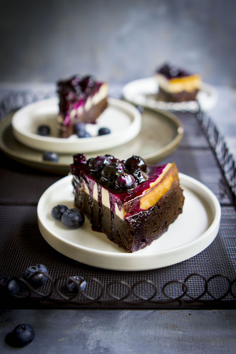 Blueberry Brownie Cheesecake