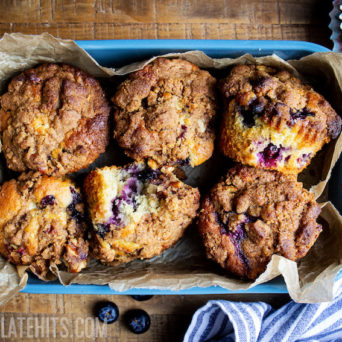 Bakery-Style Blueberry Muffins with Streusel Topping
