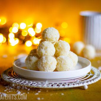 Quick Coconut Balls (Coconut Ladoos)